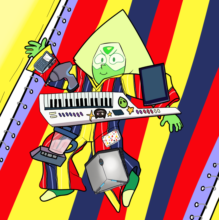 Behold! Peridot harnessing the true power of Velcro!