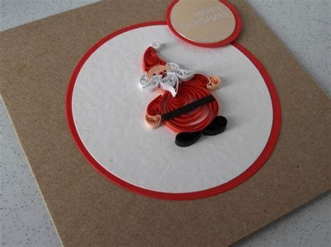 Quilled Christmas card, paper quilling, Santa,     Folksy