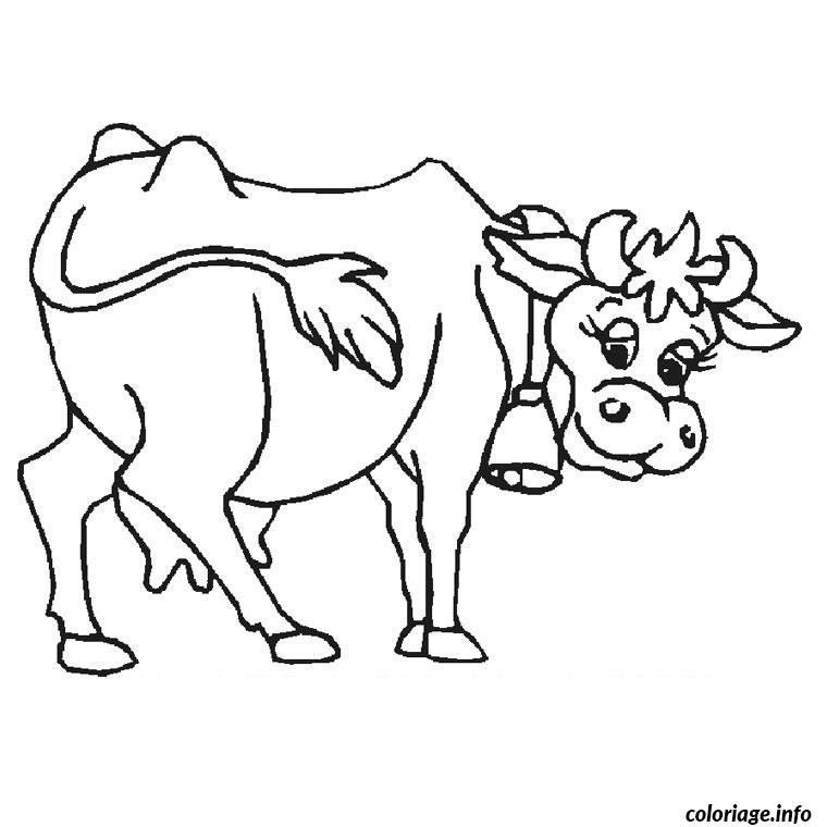Coloriage Vache Jecoloriecom
