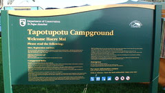 """""""Tapotupotu"""" Campground Sign"""