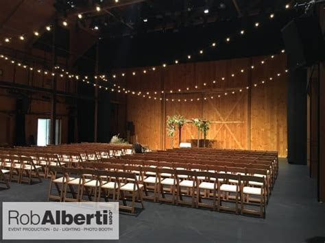 Jacob's Pillow   Becket MA   Barn Wedding Lighting   Rob