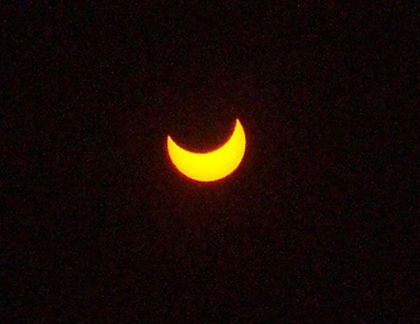 An image I took of the annular solar eclipse that took place on May 20, 2012.