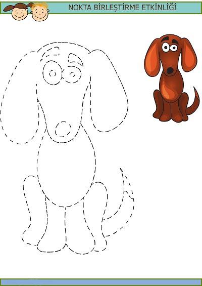 Sevimli Köpek Nokta Birleştirme Etkinliği Meb Ders