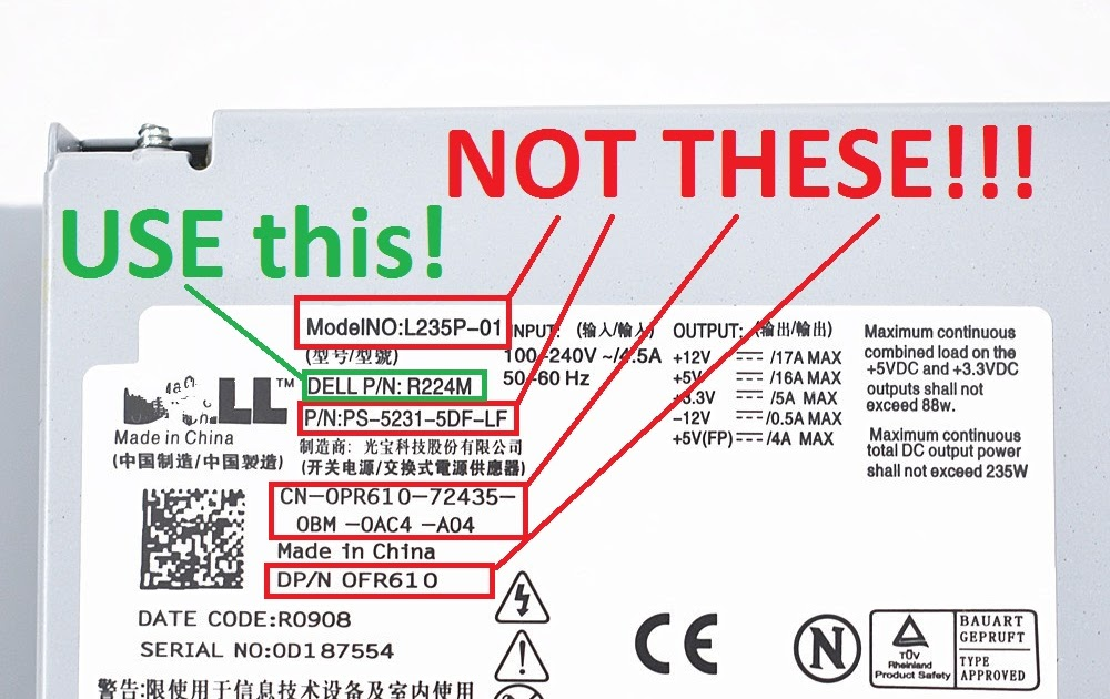 Dell Power Cord Wiring Diagram