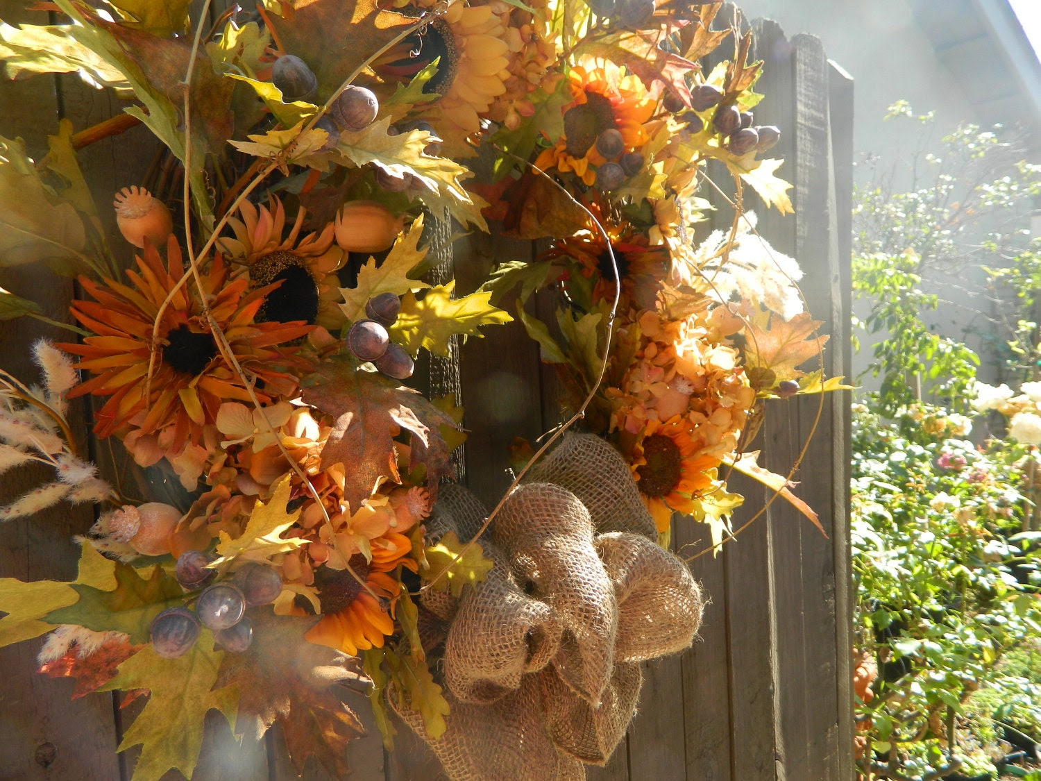 Door Wreath Autumn Wreath Fall Wreath Home by tatteredcottage2