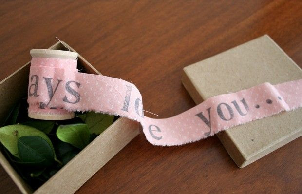 Unraveling a Letter- 19 Great DIY Valentine's Day Gift Ideas for Him