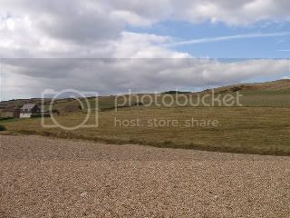 Chesil,shingle,sky,clouds,grass hills