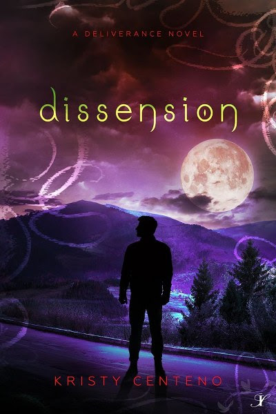 Book Cover for adult paranormal novel Dissension from the Deliverance series by Kristy Centeno.