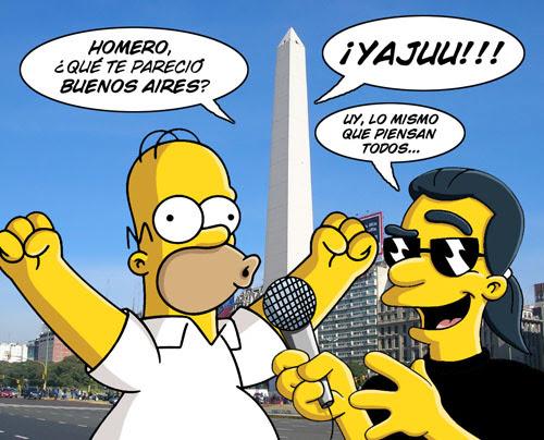 Homero Simpson y El Magnifico en Buenos Aires 2