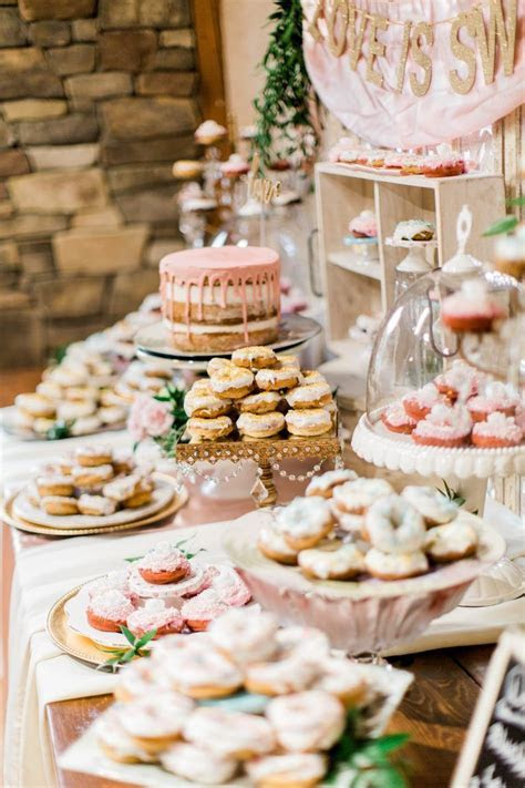 Amazing donut bar at the wedding reception   Preston