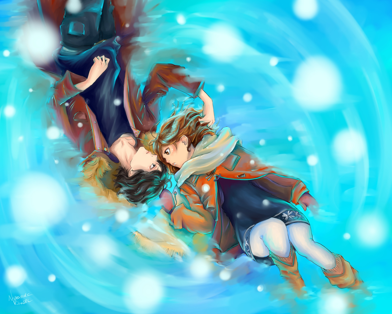 Cute Anime Couple Desktop Wallpapers | PixelsTalk.Net