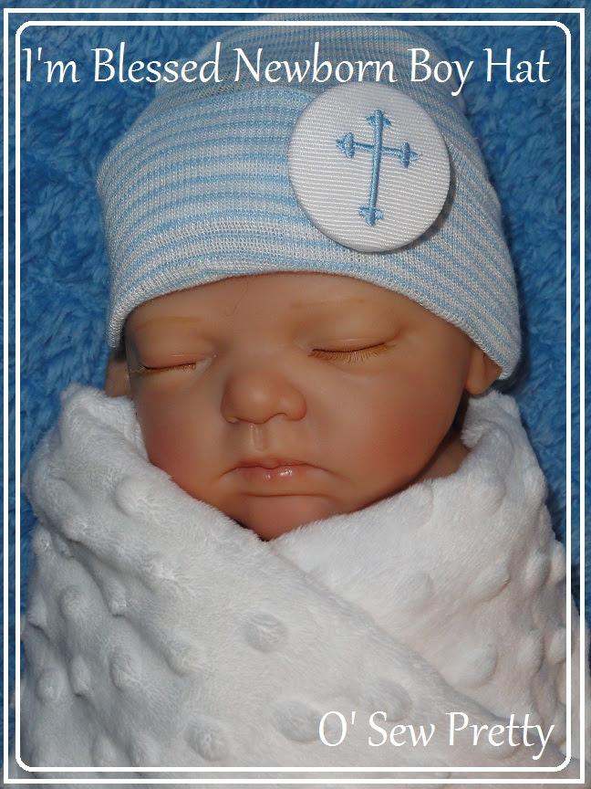 I Am Blessed New Born Baby Boy Hospital Hat