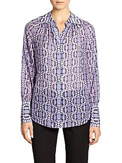 Robert Graham Dawson Silk Print Blouse