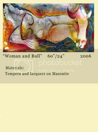 Roni Golan - Woman and Bull