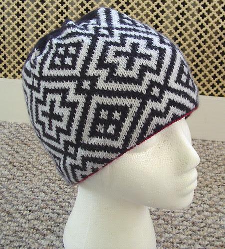 Sage's hat and mitten set - hat