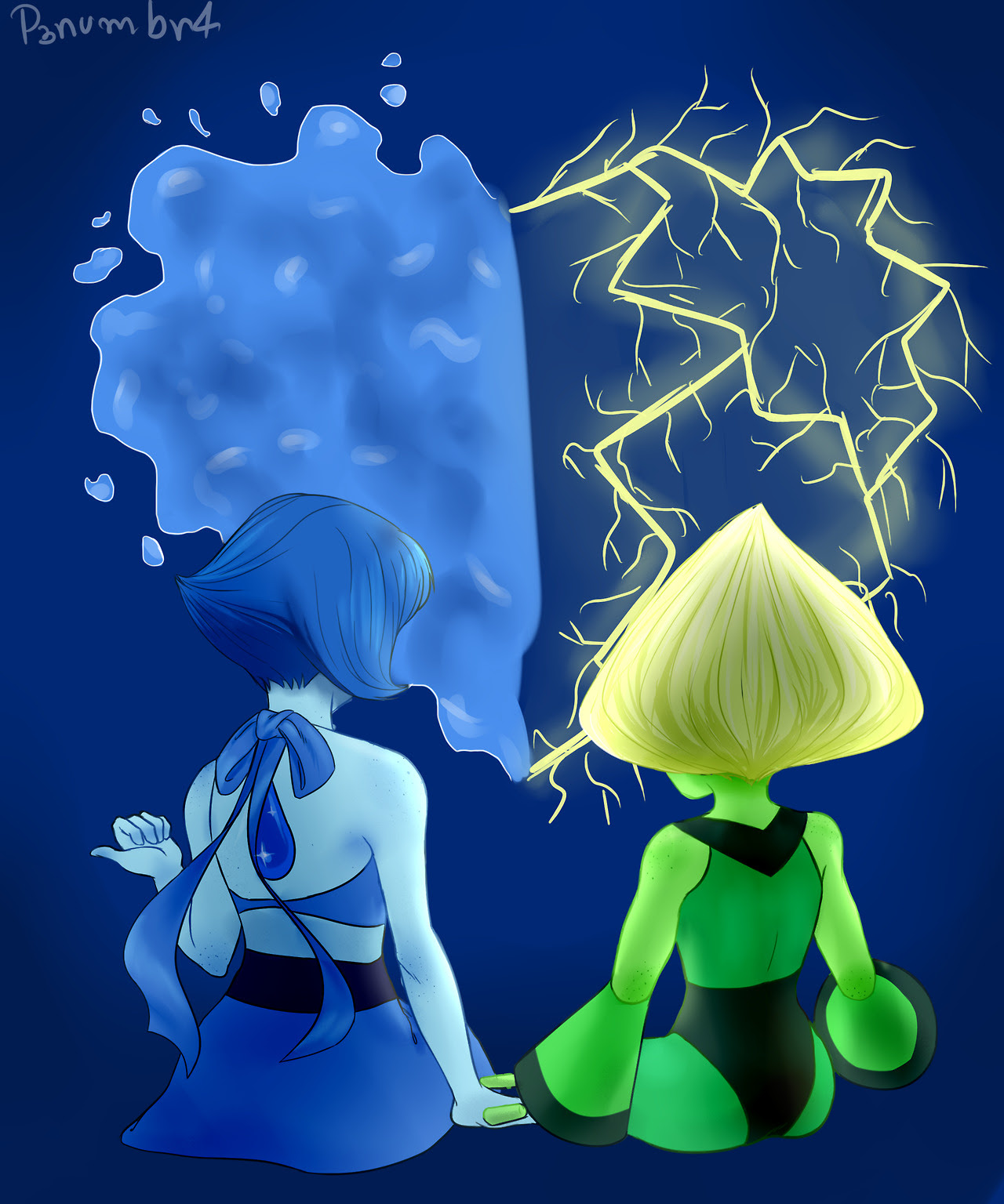 a really quick commisison I did for a friend of mine he asked as a b-day gift for a friend. tbh, I also ship Lapidot ♥
