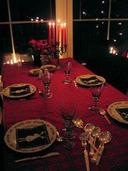 christmas table :: juleaften dekket bord