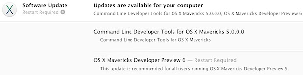 OS X Mavericks DP6 in the App Store