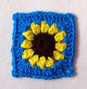 Free Sunflower Granny Square Pattern