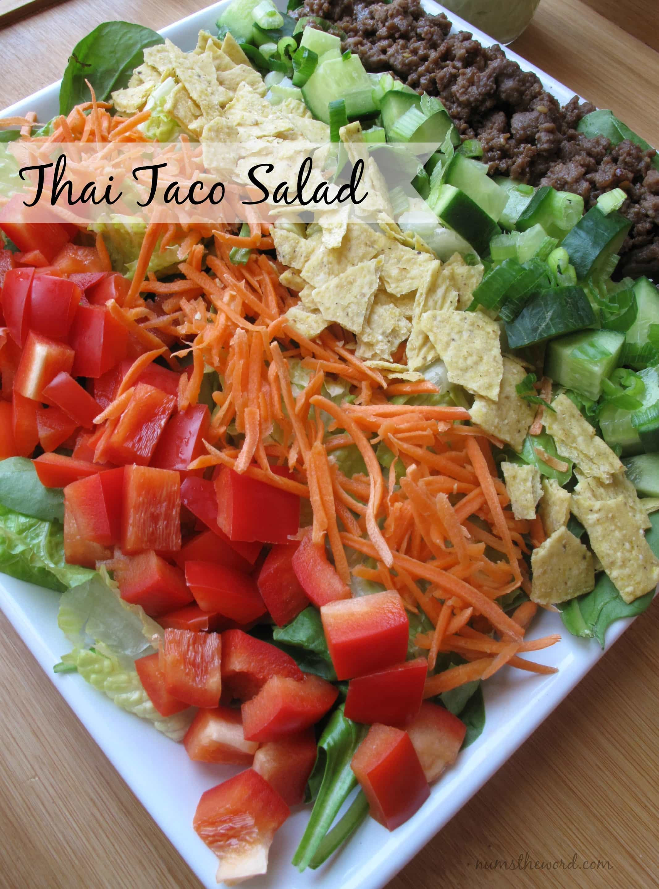 Thai Taco Salad- 17 Healthy Salads That Don't Taste Like Rabbit Food. serenabakessimplyfromscratch.com