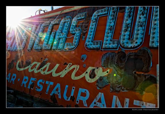 las vegas sign graveyard. the Las Vegas club sign.