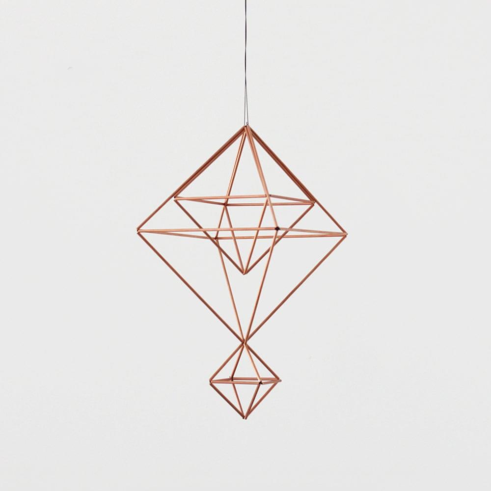 Copper Himmeli no. 6 / Modern Hanging Mobile / Geometric ...