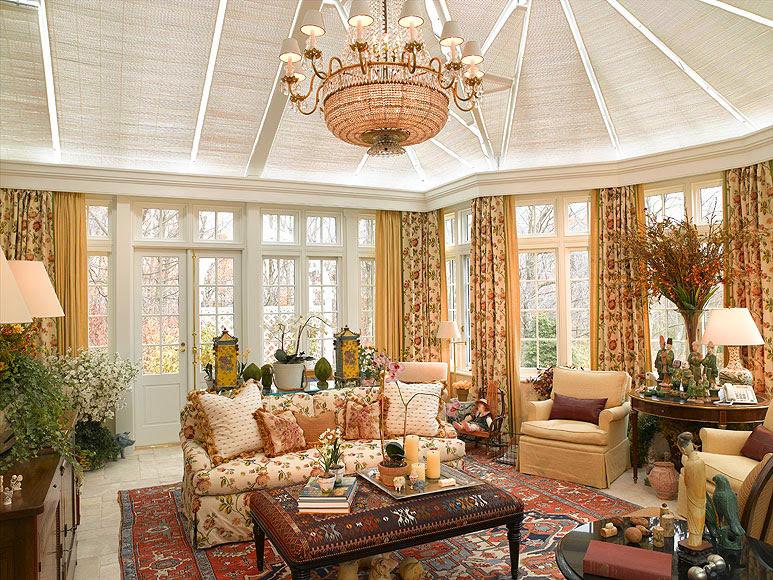 Exquisite Interior Design Featuring A Decorated Conservatory