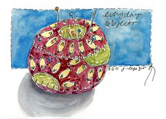 pin cushion ~ everyday objects