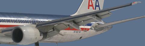 Boeing 757 wing view (landing trim)