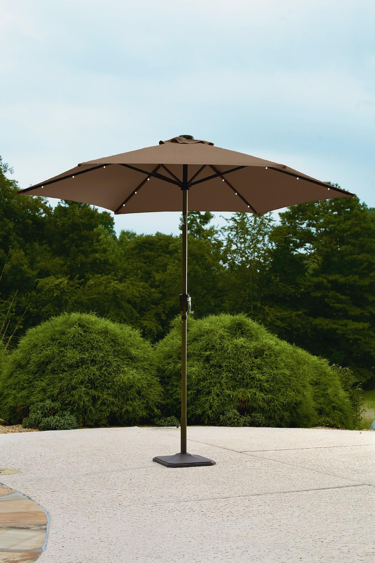 Garden Oasis 9' Solar Lighted Umbrella - Outdoor Living ...