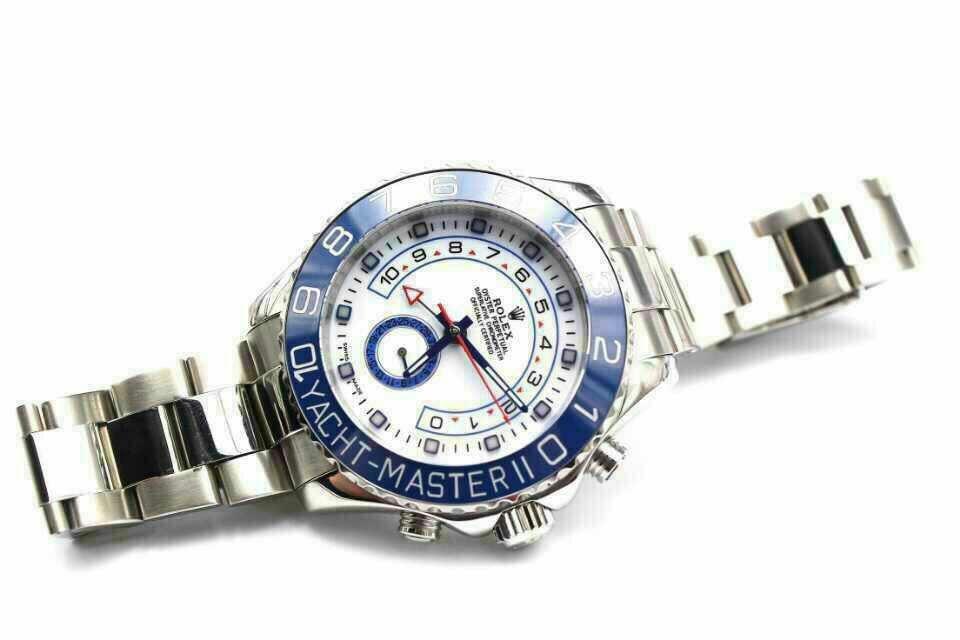 Replica Rolex Yacht-Master II 116680 White Dial