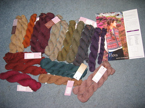 Flora waistcoat kit and pattern from Virtual Yarns