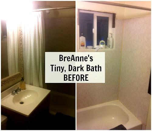 BreAnnes tiny dark bathroom BEFORE