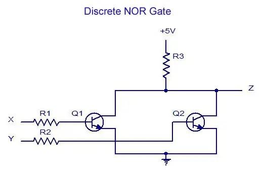 Discrete NOR Gate