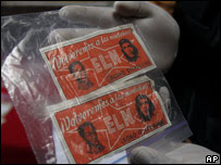 """""""Billetes"""" del ELN"""