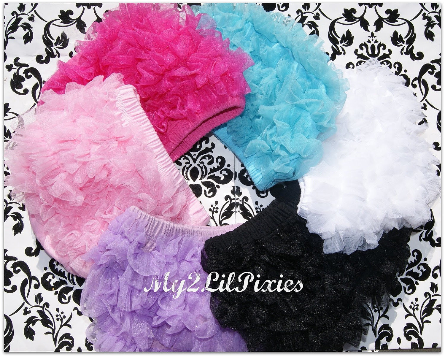 Black FRIDAY SALE READY to ship- Chiffon Ruffle Bum Baby Bloomer -Photo Prop- 13 colors to choose from- Christmas Pictures-MY2Lilpixies