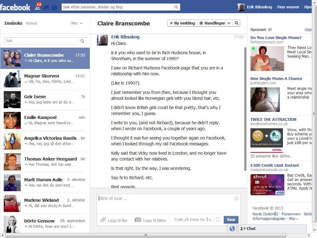 claire facebook