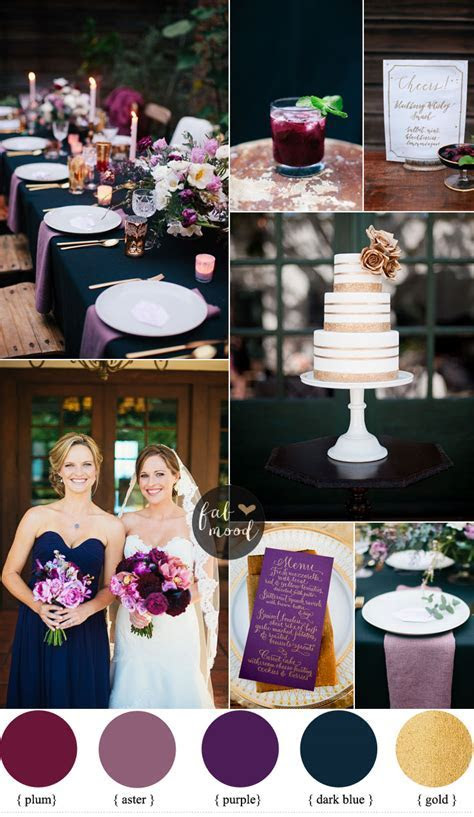 Midnight Blue And Purple Wedding
