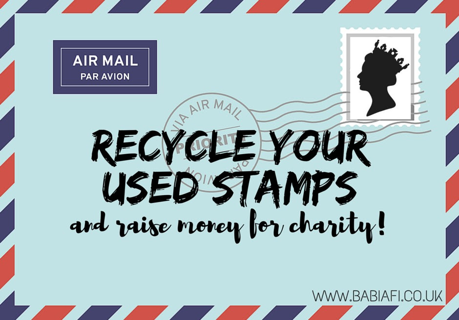 Recycle your used stamps - and raise money for charity!