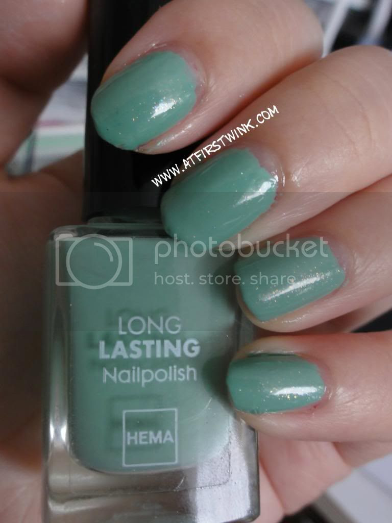 Chanel Jade, the HEMA nail polish #843 Dark Sea foam