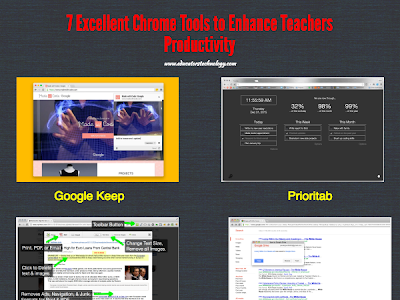 A Collection of Handy  Chrome Tools to Enhance Teachers Productivity