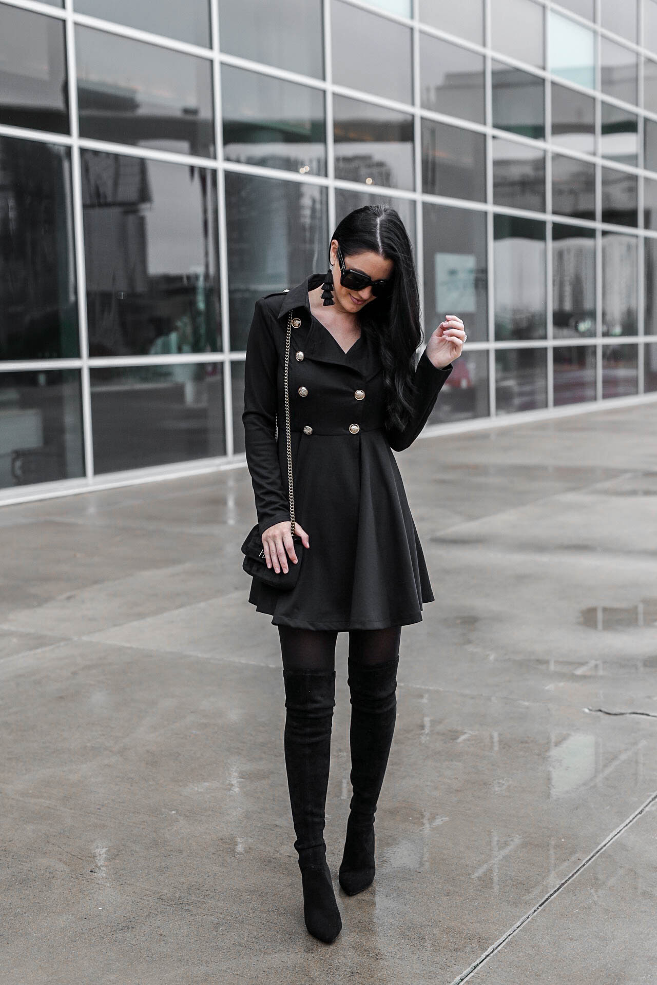 tips on how to wear a black trench coat dress  dressed to