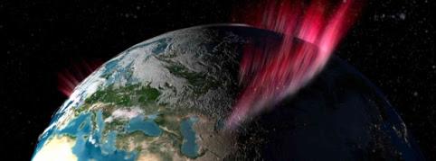 Auroras boreales. Ilustración: NASA