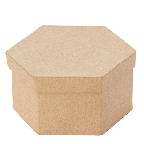 Paper Mache Hexagon Box   Paper Mache   Basic Craft
