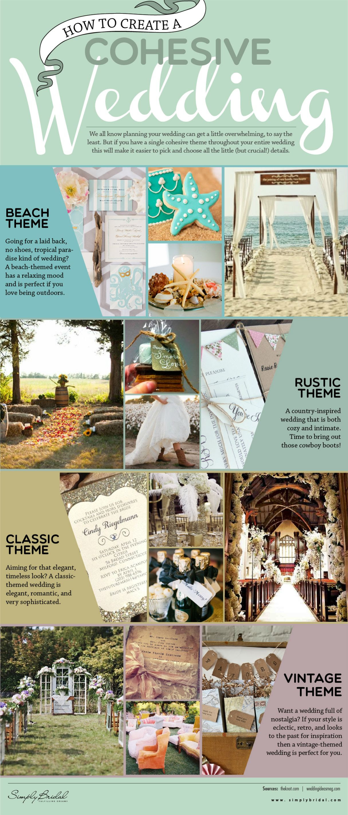 Infographic: How To Create Cohesive Wedding #infographic