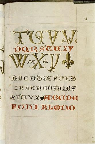 A scroll alphabet. e