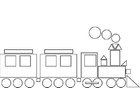 geometrik sekillerden tren