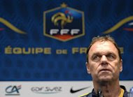 Australia's national football team head coach Holger Osieck gives a press conference on October 10, 2013, 2013 in Paris