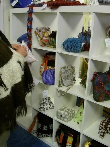 Buttontree Lane pouches on display