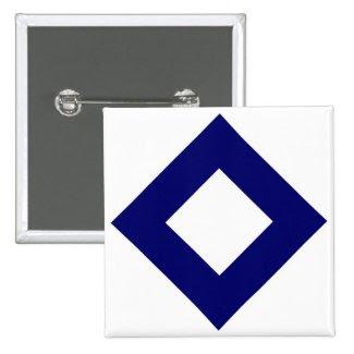 White and Navy Diamond Pattern Pins